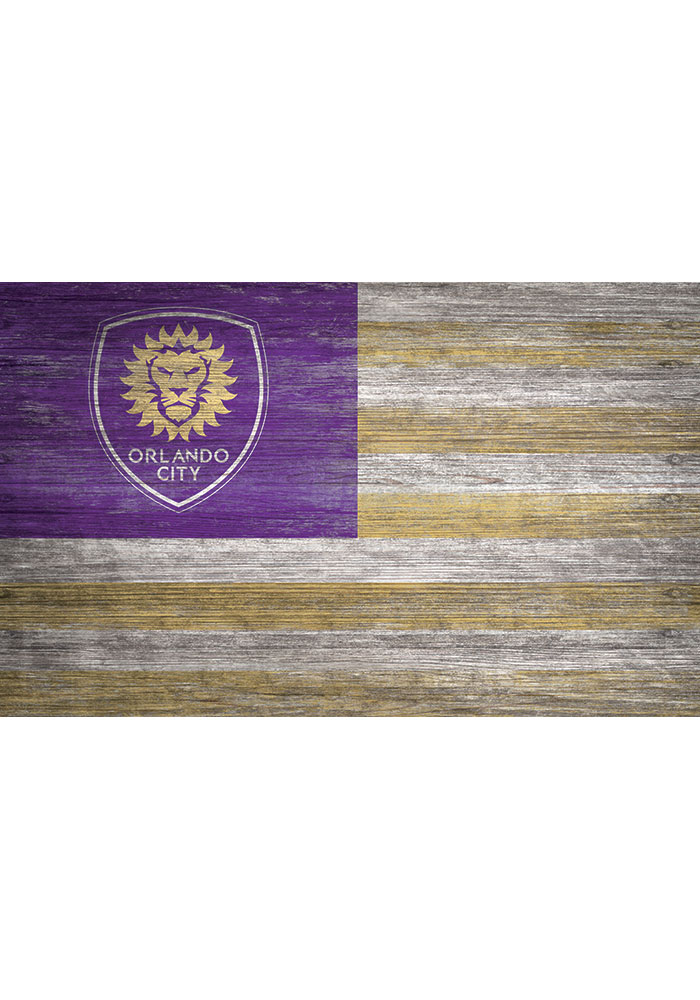 Orlando City SC Distressed Flag 11x19 Sign