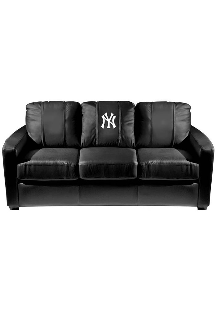 New York Yankees Faux Leather Sofa - Image 1
