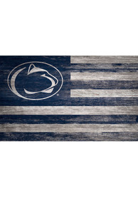 Penn State Nittany Lions Distressed Flag 11x19 Sign