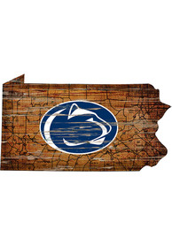 Penn State Nittany Lions Distressed State 24 Inch Sign