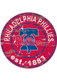 Philadelphia Phillies Established Date Circle 24 Inch Sign