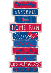 Philadelphia Phillies Celebrations Stack 24 Inch Sign