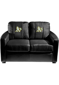 Oakland Athletics Faux Leather Love Seat