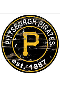Pittsburgh Pirates Established Date Circle 24 Inch Sign