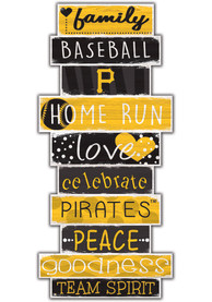 Pittsburgh Pirates Celebrations Stack 24 Inch Sign