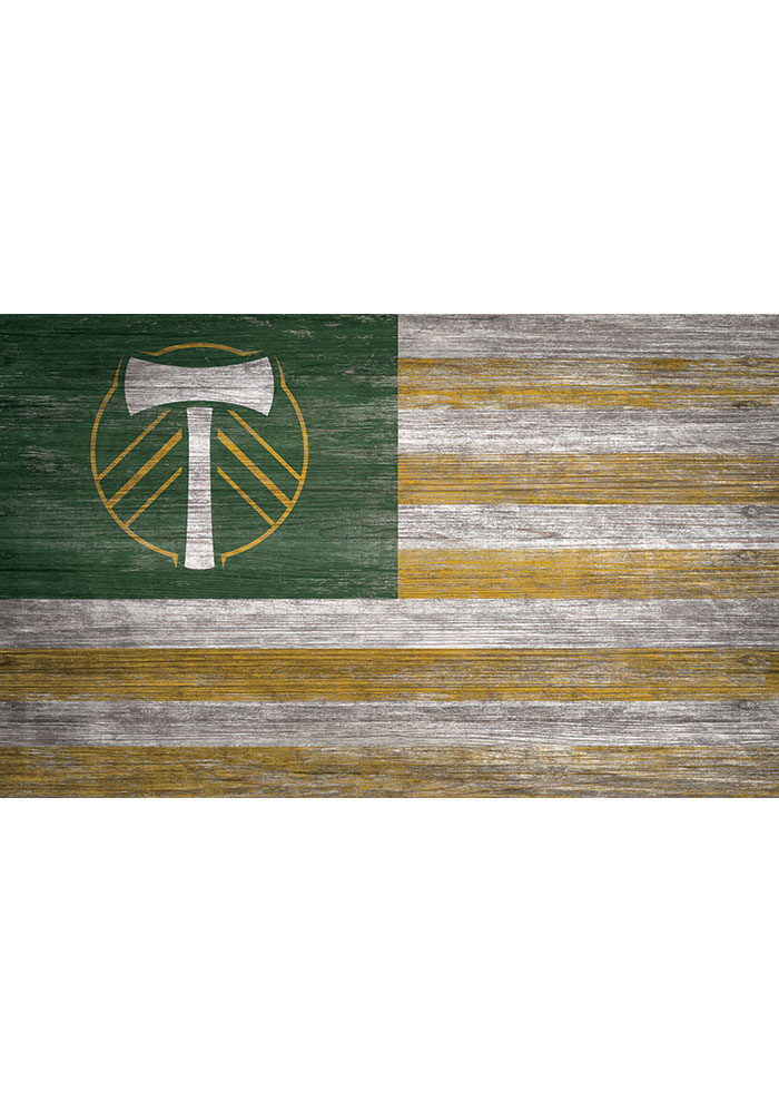 Portland Timbers Distressed Flag 11x19 Sign