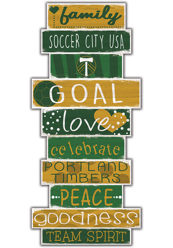 Portland Timbers Celebrations Stack 24 Inch Sign - Image 1