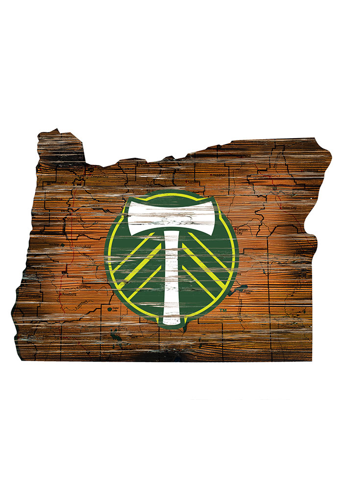 Portland Timbers Distressed State 24 Inch Sign - Image 1