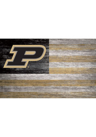 Purdue Boilermakers Distressed Flag 11x19 Sign