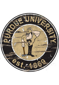 Purdue Boilermakers Established Date Circle 24 Inch Sign