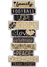 Purdue Boilermakers Celebrations Stack 24 Inch Sign