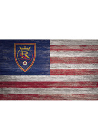 Real Salt Lake Distressed Flag 11x19 Sign