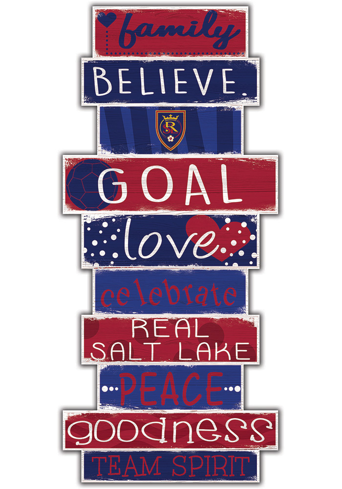 Real Salt Lake Celebrations Stack 24 Inch Sign - Image 1