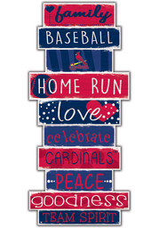 St Louis Cardinals Celebrations Stack 24 Inch Sign