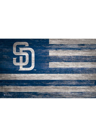 San Diego Padres Distressed Flag 11x19 Sign