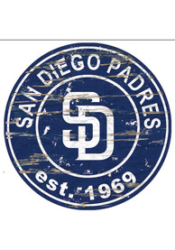 San Diego Padres Established Date Circle 24 Inch Sign