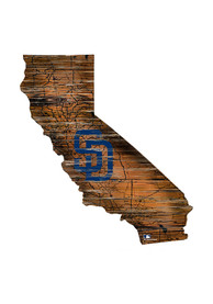 San Diego Padres Distressed State 24 Inch Sign