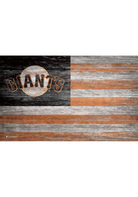 San Francisco Giants Distressed Flag 11x19 Sign