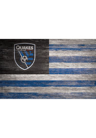 San Jose Earthquakes Distressed Flag 11x19 Sign