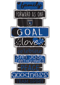 San Jose Earthquakes Celebrations Stack 24 Inch Sign