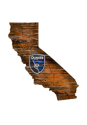 San Jose Earthquakes Distressed State 24 Inch Sign