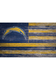 Los Angeles Chargers Distressed Flag 11x19 Sign