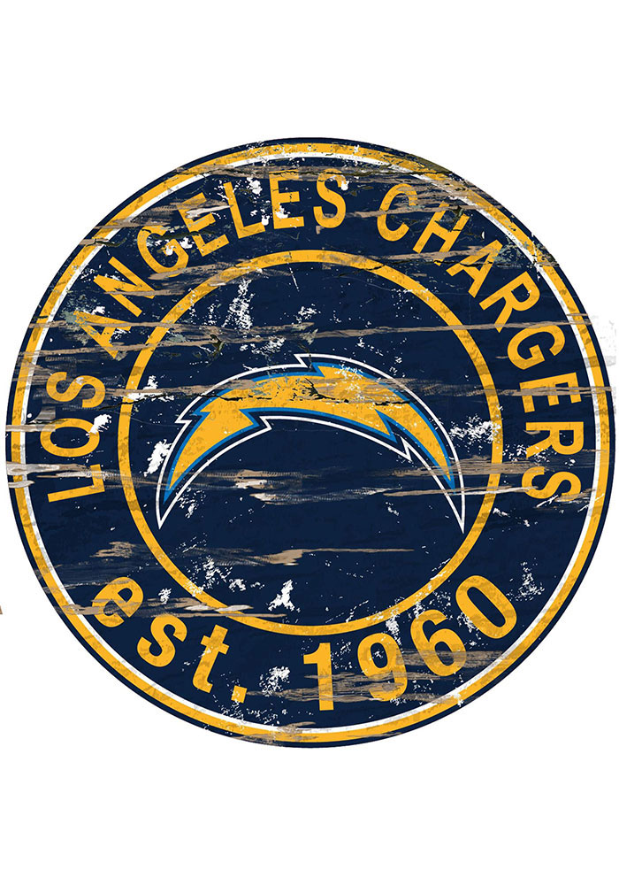 Los Angeles Chargers Established Date Circle 24 Inch Sign - Image 1