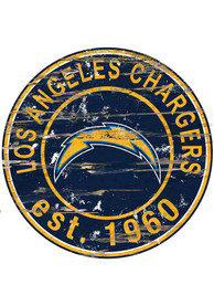 Los Angeles Chargers Established Date Circle 24 Inch Sign