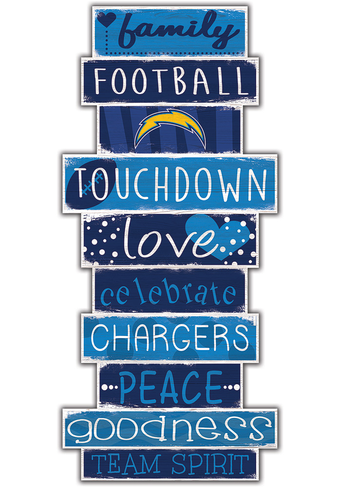 Los Angeles Chargers Celebrations Stack 24 Inch Sign - Image 1