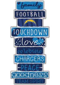 Los Angeles Chargers Celebrations Stack 24 Inch Sign