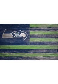 Seattle Seahawks Distressed Flag 11x19 Sign