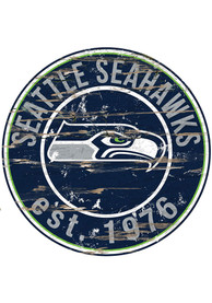Seattle Seahawks Established Date Circle 24 Inch Sign