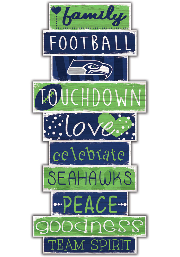 Seattle Seahawks Celebrations Stack 24 Inch Sign - Image 1