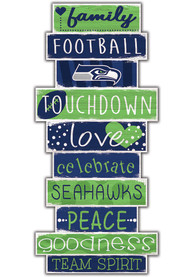 Seattle Seahawks Celebrations Stack 24 Inch Sign