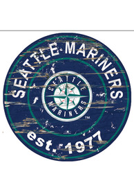 Seattle Mariners Established Date Circle 24 Inch Sign
