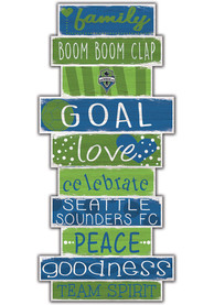 Seattle Sounders FC Celebrations Stack 24 Inch Sign