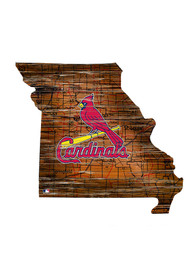 St Louis Cardinals Distressed State 24 Inch Sign