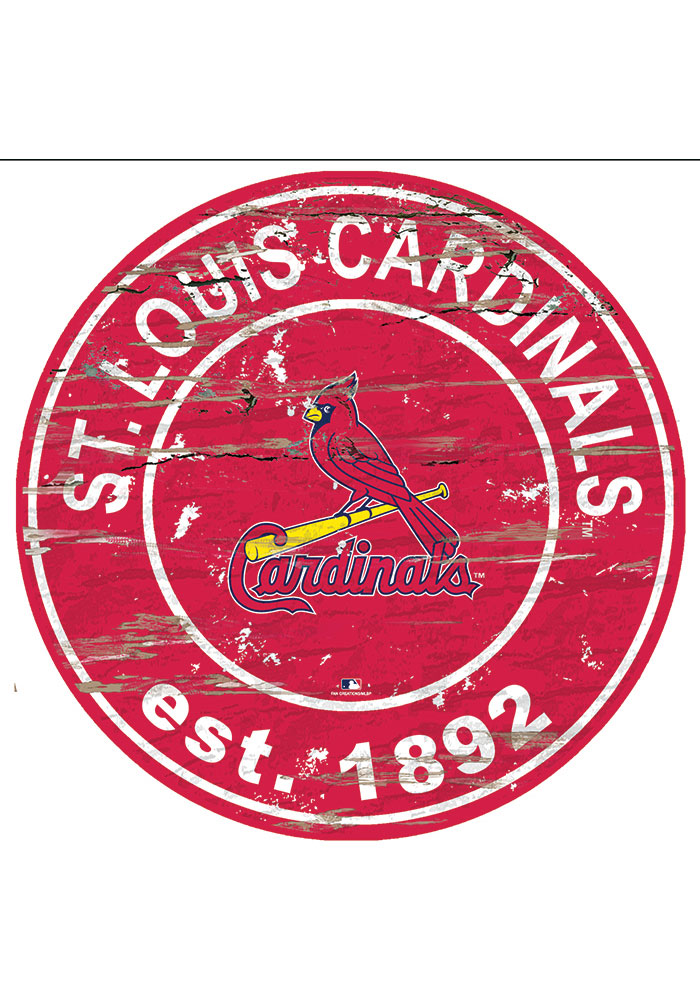 St Louis Cardinals Established Date Circle 24 Inch Sign - Image 1