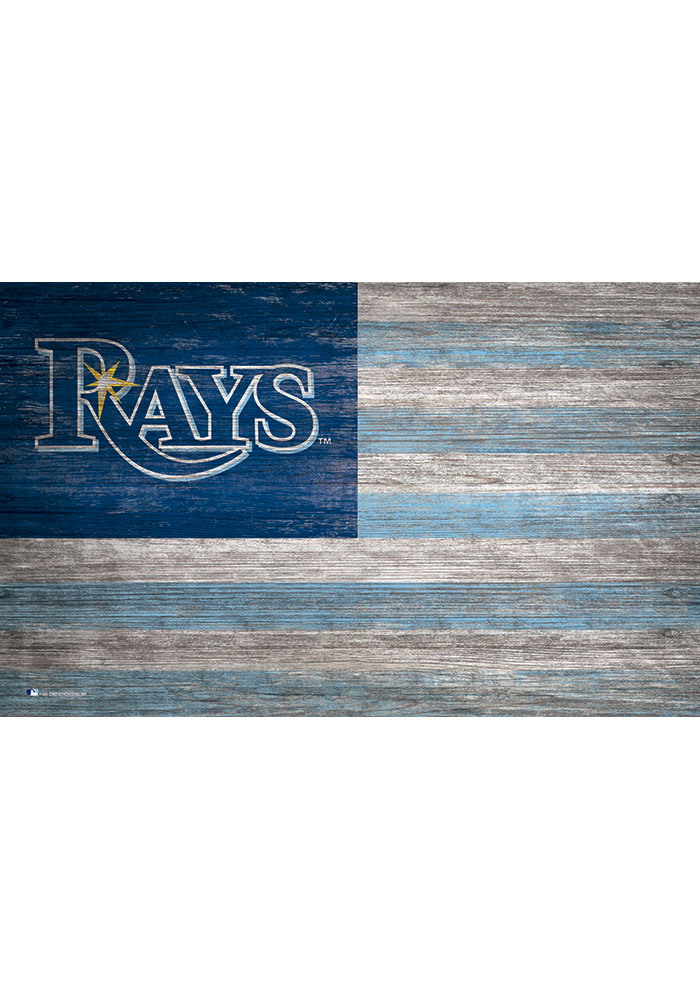 Tampa Bay Rays Distressed Flag 11x19 Sign - Image 1