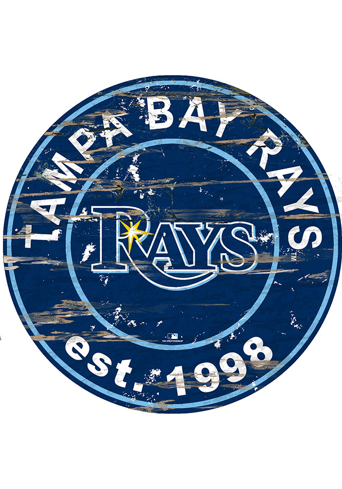 Tampa Bay Rays Established Date Circle 24 Inch Sign - Image 1