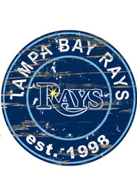 Tampa Bay Rays Established Date Circle 24 Inch Sign
