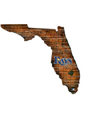 Tampa Bay Rays Distressed State 24 Inch Sign