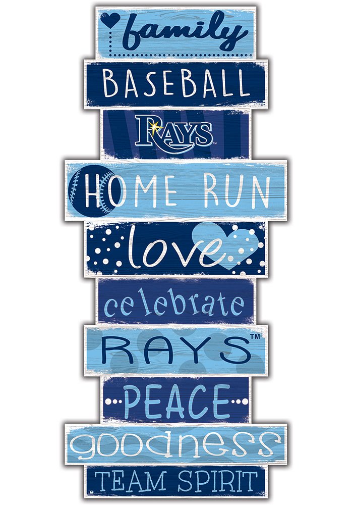 Tampa Bay Rays Celebrations Stack 24 Inch Sign - Image 1