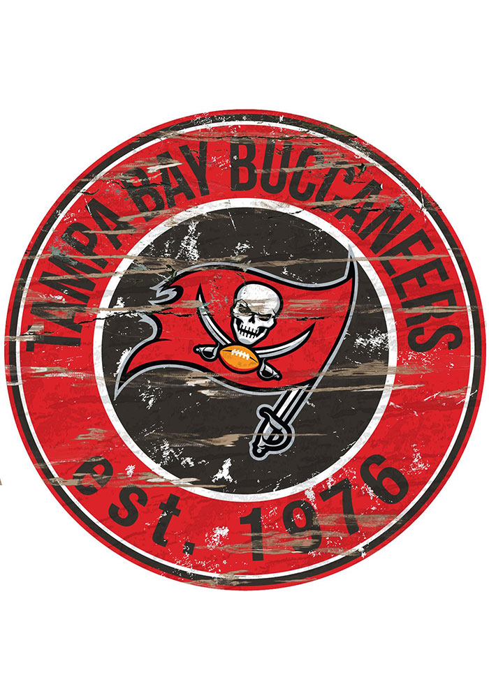 Tampa Bay Buccaneers Established Date Circle 24 Inch Sign ...