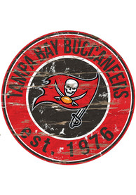 Tampa Bay Buccaneers Established Date Circle 24 Inch Sign