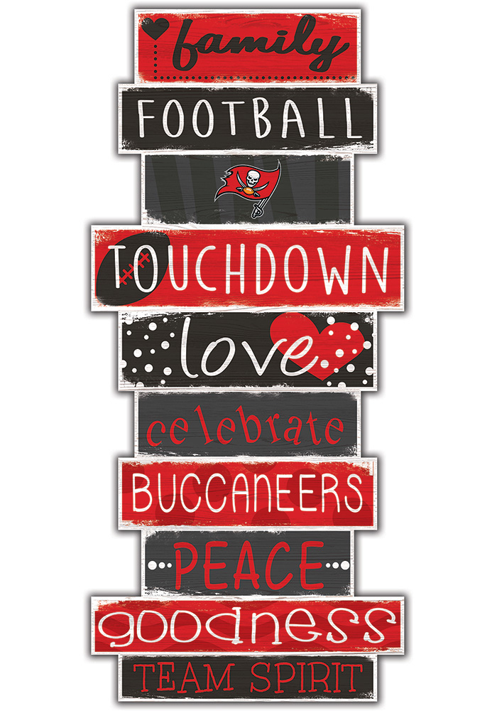 Tampa Bay Buccaneers Celebrations Stack 24 Inch Sign - Image 1