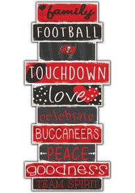 Tampa Bay Buccaneers Celebrations Stack 24 Inch Sign