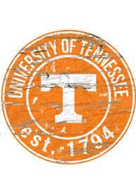 Tennessee Volunteers Established Date Circle 24 Inch Sign