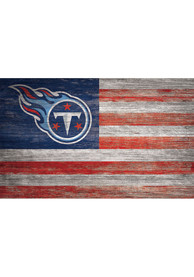 Tennessee Titans Distressed Flag 11x19 Sign