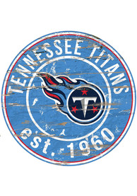 Tennessee Titans Established Date Circle 24 Inch Sign